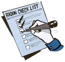 Radon Check list